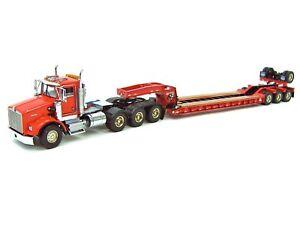 "Kenworth T800W Truck w/ 4 Axle Rogers Lowboy Trailer ""RED"" - 1/50 - WSI #34-2024"