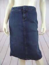 Arden B Jean Skirt 8 Blue Wash Denim Cotton Nylon Spandex Stretch Pockets Chic