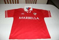 CAMISETA VINTAGE 1995-96  SEVILLA FC MARCA UMBRO TALLA M Nº 18 CARLOS   SHIRT