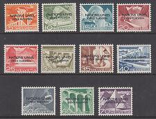 Switzerland ONU/UNO Mi 1 III- 11 III, MLH. 1950 UN European Office overprint var