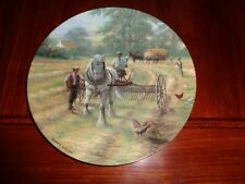 Royal Doulton Collectors Plate AND THEN BEGINS THE RAKING Shire Horse Plate