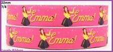 1 metre, EMMA, The Wiggles, 22mm, Ribbon, 7/8, Grosgrain, Hair, Pink, Sewing