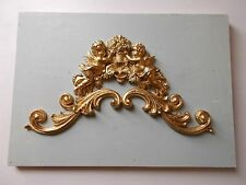 ORNATE FRENCH STYLE PEDIMENT CHERUBS AND SCROLLS HEADBOARD FIRE PLACES