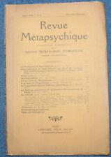 Revue MÉTAPSYCHIQUE - n°6 de 1930 - Hypnose, Médiumnité...