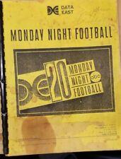 Data East Monday Night Football - Data East Pinball Operating Instructions Specs