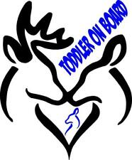 Deer-baby boy on board decal auto window decal (Removable Vinyl)