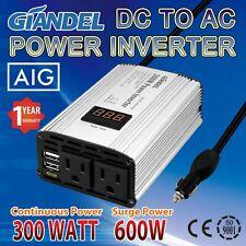 Power Inverter 300W Modified Sine Wave 12V DC to 110V~120V AC Cigarette Lighter