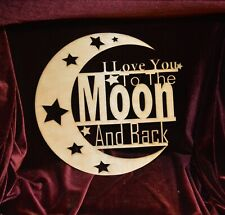I Love You to the Moon and Back Sign Stars  00004000