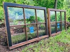 2 - 32 x 25 Vintage Window sash old 6 pane From 1960s Arts & Crafts