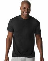 Hanes 6-Pack Undershirt Men XTemp Comfort Cool Dyed Black Crewneck Black TagFree
