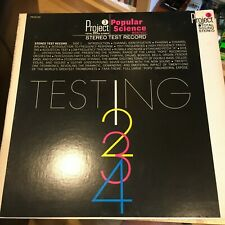 Project 3 / Popular Science – Stereo Test Record – Pr201 Lp, vinyl Testing 1234