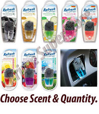 Refresh Your Car AC Vent Clip Air Freshener Scent Oil Wick Eliminates Odor Truck