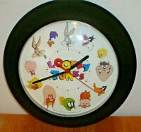Vintage 1998 Westclox Looney Tunes Wall Clock U.S.A. Bugs Bunny, Road Runner Etc