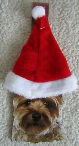 Happy Howlidays Pet Santa's Hat Small Dog/Cat Brand New With Labels