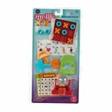 """My Life As Game Night Play Set 27 PIECES for 18"""" Dolls NEW 5+"""