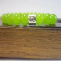 6-8mm Peridot Gem Bead Healing Yoga Bracelet Healing Natural Bead Fashion