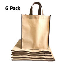 6 Pack Reusable Shopping Bag Recycled Eco Friendly Gift Tote Bags Gusset/10