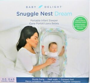 Baby Delight Snuggle Nest Dream Portable Infant Sleeper Bed ,  NEW RARE CLOUDS