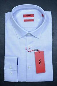 Hugo Boss Men's Joey Slim Fit Easy Iron Pastel Purple Cotton Dress Shirt 43 17