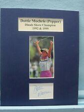 Saluting LPGA Golf Great - Dottie Mochrie (Pepper)  & her autograph