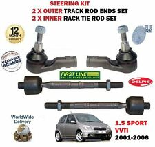FOR TOYOTA YARIS 1.5 2001-> 2X OUTER + 2X INNER STEERING TRACK RACK TIE ROD END