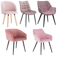 Esszimmerstuhl Küchenstühle Wohnzimmerstuhl Stuhl aus Samt flauschig Rosa #1600