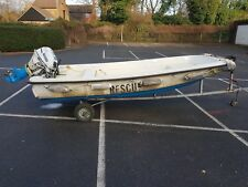 Dory powerboat with 18hp tohatsu outboard
