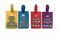 4 étiquettes à bagages , à valise , à sac à dos - KEEP CALM - 4 Couleurs
