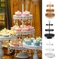 3-Tier Cupcake Stand Metal Cake Dessert Wedding Event Party Display Tower  !