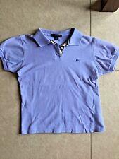 Burberry London Sz Small Bright Blue Kids Boys Girls Short Sleeve Polo Shirt