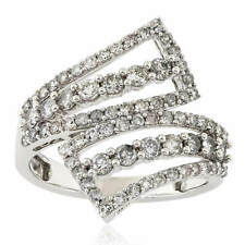 Women's 1.30ct Natural Diamond Wedding Band Right Hand Ring 10k White Gold