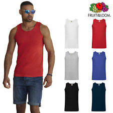 CANOTTIERA DA UOMO IN COTONE FRUIT OF THE LOOM T SHIRT SENZA MANICHE CANOTTA