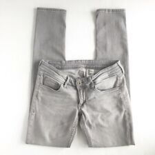 &DENIM H&M Super Low Waist Skinny Stretch Jeans Light Wash Gray 28/32