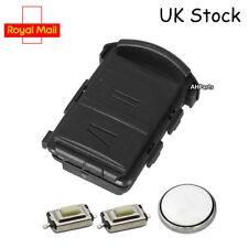 2 Button Remote Key Fob Case Service Kit + Battery Vauxhall Corsa Agila Combo