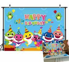 Art Studio Baby Sharks Family Photos Background Children Happy Birthday Vinyl