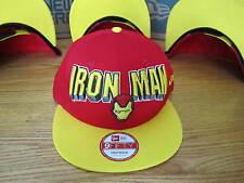 The Avengers Iron Man Marvel Comics New Era Hat Snapback SM-MED NWT LETTERS 0043