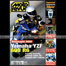 MOTO REVUE N°3637 YAMAHA YZF R6 SUZUKI GSXR 600 750 SUZUKI DR 350 TRIUMPH T100