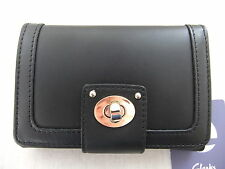 NEW CLARKS ROCHE BAY WOMENS BLACK LEATHER PURSE
