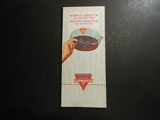 "VINTAGE 1963 CONOCO OIL CO. ROAD MAP, ""NORTH & SOUTH DAKOTA ""   UNITED STATES"