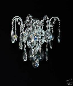 Real Crystal Wall Lamp Wall Chandelier, Silber-O. Golden Pass.kronleuchter