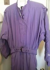 80s Roffe  Snowsuit Purple Womens Size 10 SKI Bunny Snow Suit BIB