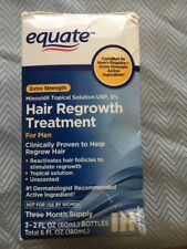Equate Men Hair Regrowth Treatment bottle  Three Month Supply Exp  2020