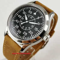PARNIS black dial Sapphire Glass 21 jewels miyota automatic military men's Watch