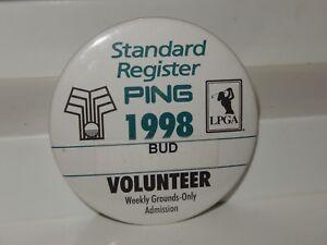 GOLF PING-1998 STANDARD REGISTER PING LPGA BADGE PIN. VOLUNTEER TAG LPGA