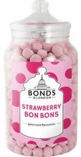 BONDS - STRAWBERRY BON BONS - 2.1KG JAR, TRADITIONAL BOILED SWEETS