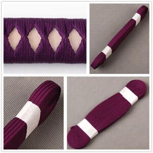 Noble Purple Synthetic Silk Ito Sageo Cord For Japanese Katana Wakizashi Sword