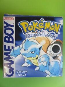 Pokémon - Game Boy - Version bleue - Notice + Boîte vide