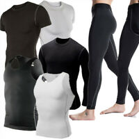 Men's Compression Shirt Running Gym Tops Sport Long Sleeve Baselayer Tight fit