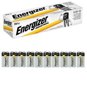 Energizer 9V 6LR61 Alkaline PP3 Batteries Industrial Professional Smoke Alarm
