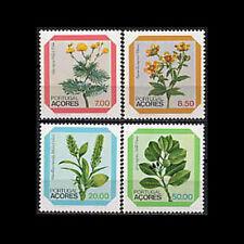 Azores, Sc #325-28, MNH, 1981, Flowers, Flora, Plants, CL101F